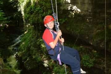 wet-abseiling
