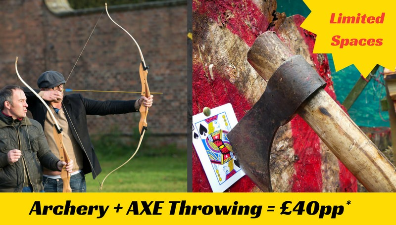 Axe and Archery £40pp