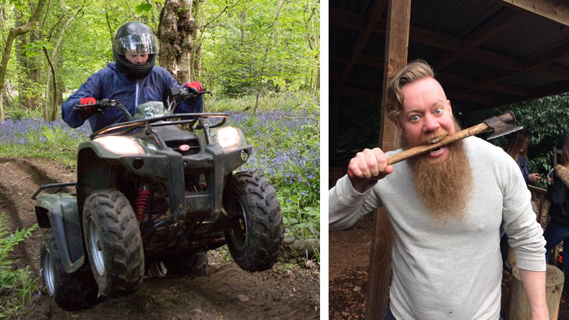 Quad Biking + Axe Throwing