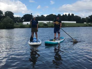 Paddle Boarding at Ripley Castle